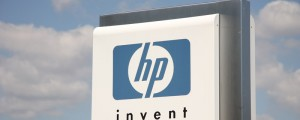 Hewlett-Packard sign