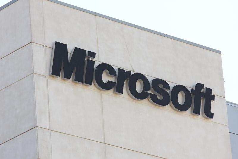 Microsoft Canada sign
