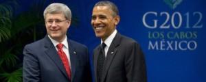 Prime Minister Stephen Harper and U.S. President Barack Obama