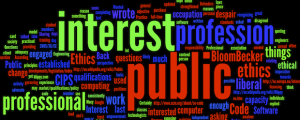 "Wordle made from ""Wanted: Defenders of the Public Interest"""