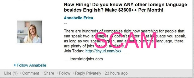 Bogus job ad used by scammers on LinkedIN