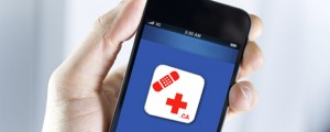 red-cross app with phone