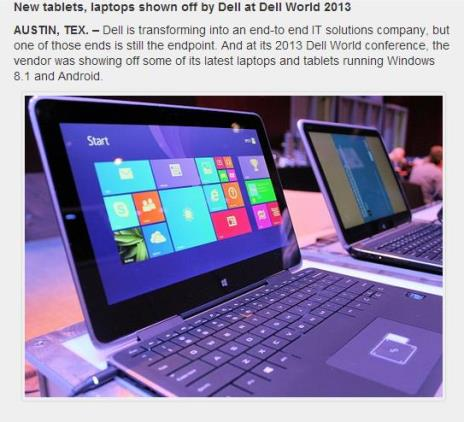 in story image: Dell slide show