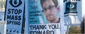 Snowden support signs