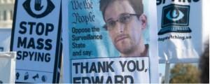 Snowden support signs