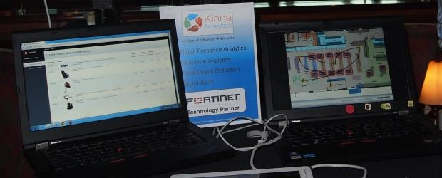 Fortinet's solution with Kiana Analytics was shown at the weekend's partner conference