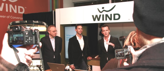 Wind Mobile officials at the December 2009 launch (ITWC photo)