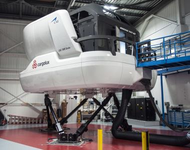 A CAE Boeing 474 Freighter simulator