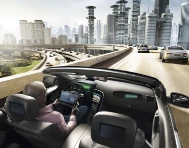 A Continental AG artist's vision of automated driving