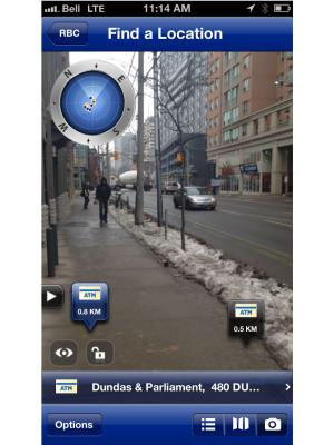 INSIDE RBC augmented reality app