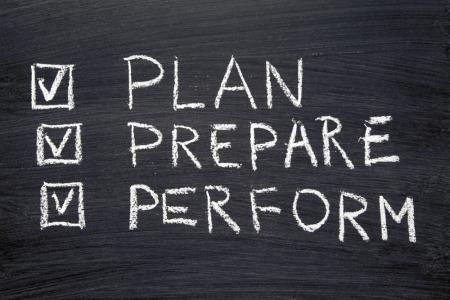 INSIDE plan, prepare, perform