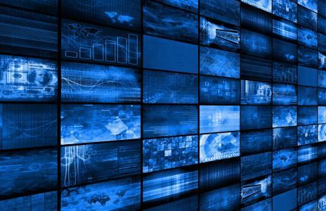 SLIDE wall of monitors SHUTTERSTOCK