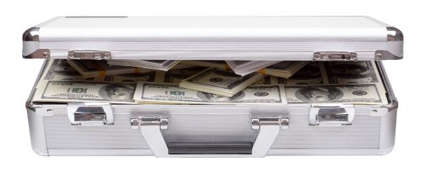 Suitcase with Cash