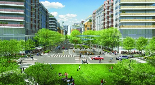 Waterfront Toronto incorporates mixed-use development that accommodates affordable housing units. Photo: Waterfront Toronto