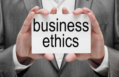 SLIDE SIZE Business ethics graphic SHUTERSTOCK