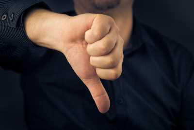 SLIDE SIZE Thumb down Shutterstock