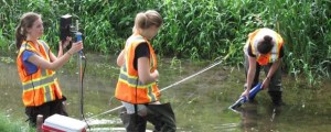 Researchers in Grand River help gather data to be used in analytics. SOWC photo