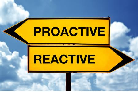 INSIDE SLIDE Proactive -Reactive sign SHUTTERSTOCK