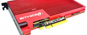 One of BitMicro's new E-series PCIe drives for enterprises