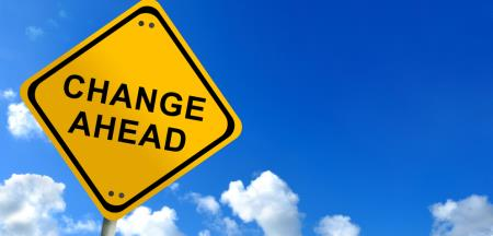 INSIDE SLIDE Change Ahead sign SHUTTERSTOCK
