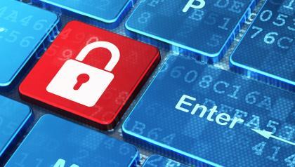 INSIDE SLIDE security lock on keyboard SHUTTERSTOCK