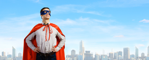 Super Hero in Cape