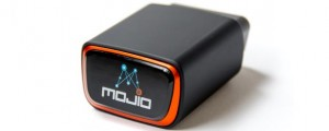 This Mojio device plugs into a vehicle port to connect to the Internet