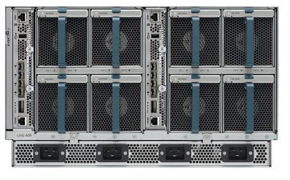 The back of a Cisco UCS Mini server