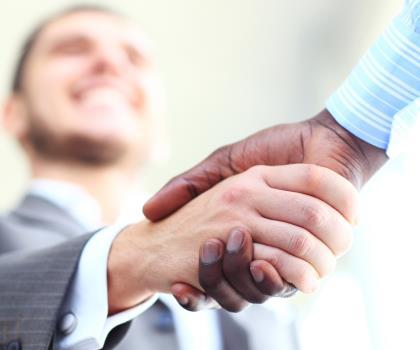 INSIDE SLIDE Handshake, trust partnership SHUTTERSTOCK