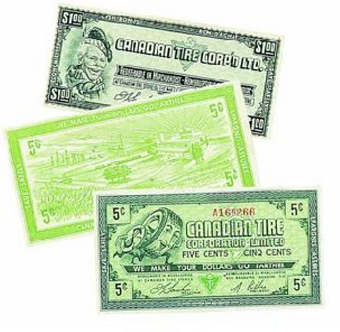 in story first canadian tire money
