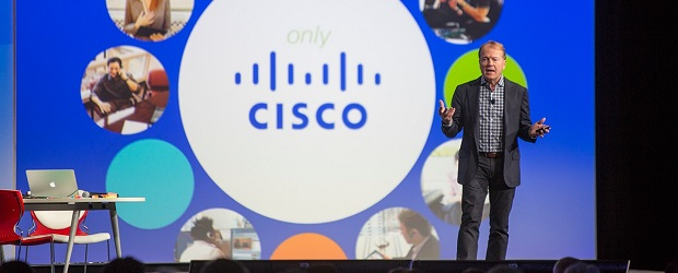 Cisco CEO John Chambers addresses attendees at Collaboration Summit in Los Angeles.