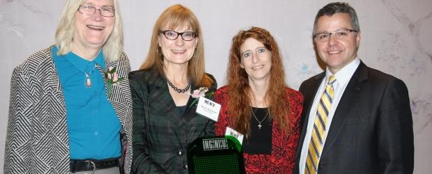 A team including Sherri Kashuba of Alberta Organ and Tissue Agency was honoured with an Ingenious 2014 award