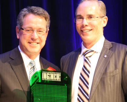 Don Shilton, St. Mary's Hospital, left, at Ingenious 2014 awards