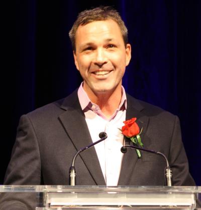 Global Relay CEO Warren Roy at Ingenious 2014 awards. ITAC photo