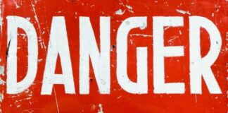 danger sign, IT risks, security, malware, hackers