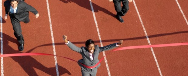 Race, woman, finish line IT leaders, IT careers