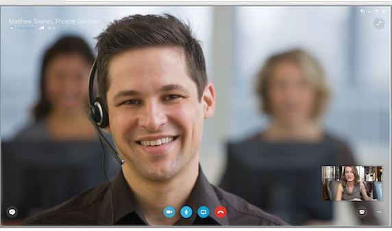 in story Skype for Business display
