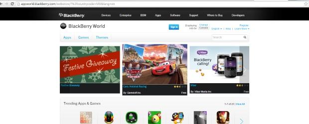 Blackberry World Web site