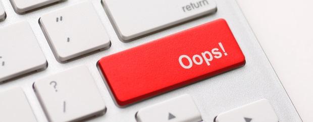 oops, mistake, error