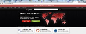FEATURE Shodan home page