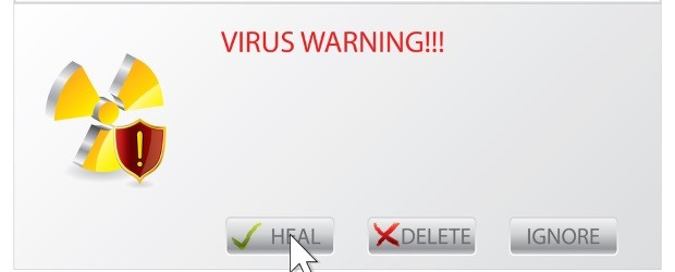 Virus warning sign