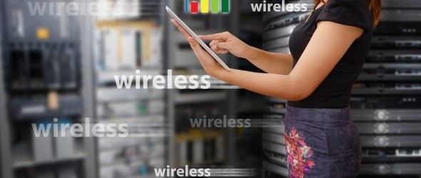 slide wi-fi, wireless woman shutterstock