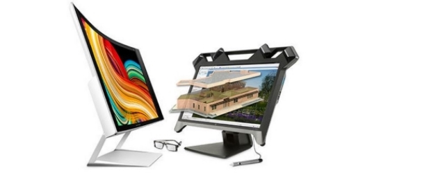 HP ZvR display 3D disoplay