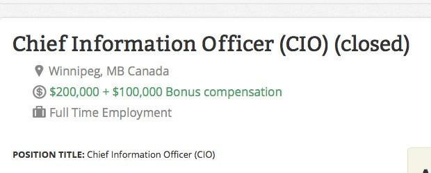 CIO jobs Canada recruiters