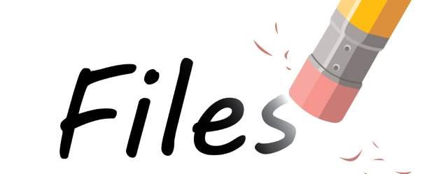 Erase delete files