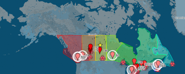 Cyber-security map of Canada
