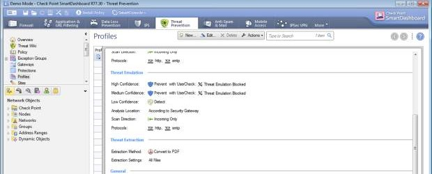 A screen shot from Check Point Software's Sandblast