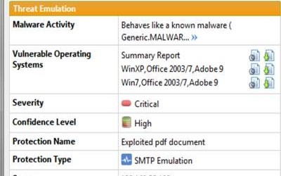 INSIDE Check Point Software Sandblast screen shot 2