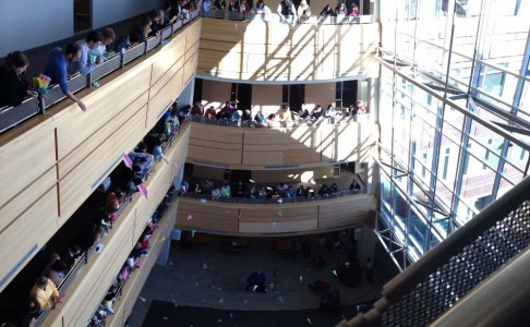 ceridian-employees-gather-often-in-the-atrium-for-our-fun-work-events