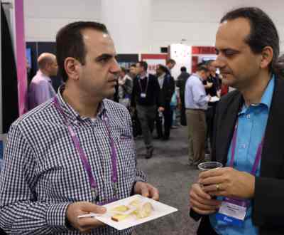 Anas Tawileh of Toronto's Systematics Consulting, left, with Tony Abou-Assaleh of Waterloo, Ont.'s TitanFile